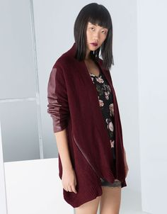 Bershka Romania - Bershka combined fabric coat
