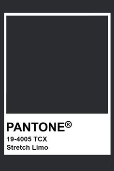 Pantone Stretch Limo Paleta Pantone, Pantone Tcx, Pantone Swatches, Pantone Colour Palettes, Color Swatches, Pantone Color, Pantone 2020, Paint Color Schemes, Pallets