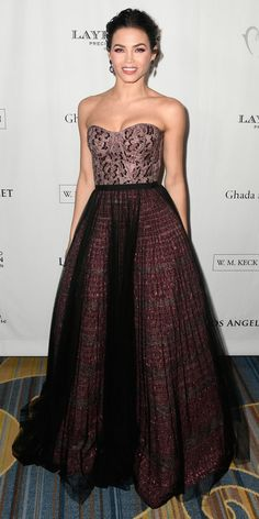 Jenna Dewan Tatum stepped out to the Los Angeles Ballet Gala wearing an elegant gown by J. Mendel.