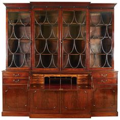 Spectacular George III Breakfront Bookcase | From a unique collection of antique and modern bookcases at https://www.1stdibs.com/furniture/storage-case-pieces/bookcases/