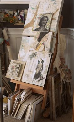 Artist Jeanne Oliver - pretty awesome work space and pretty awesome work