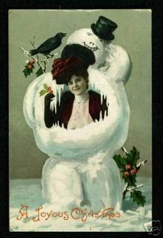 Bizarre and Creepy Vintage Christmas Cards
