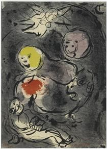 Prophet Daniel with lions - Marc Chagall