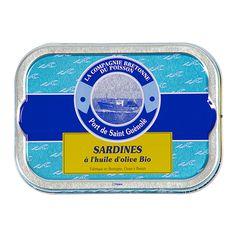 Sardines à l'huile d'olive Bio - La Compagnie Bretonne du Poisson - Etre Gourmand