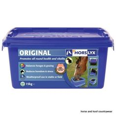 Horslyx Original Lick Encourages natural trickle feeding patterns whilst balancing the nutrient deficiencies often found in forage and grazing and helps to reduce boredom and stress.
