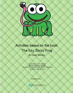 """""""The Icky Sticky Frog"""" (Dawn Bentley) is a short story with a surprise ending. The book is not included, but is encouraged to use with this packet. Included in this packet: Interactive Sequencing Sequence story to print out9 Story Comprehension CardsOpen End Game with suggestionsRoll & Cover/Bump your Friend GameArticulation Homework using words from the story for /k,g,f,l,r,s/, /r,s,l/-blends, as well as a sheet for you to add your own wordsLanguage Homework: 1 sheet with words, 1 blank so ..."""