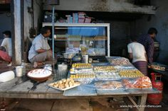 Shop selling Indian confectioneries #Sweets in streets of #Agra #Street #Food #India #ekPlate #ekplatesweets