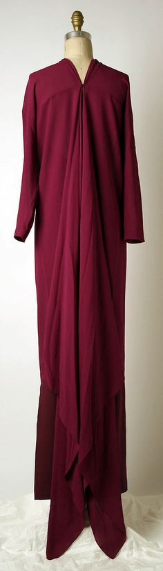 Evening Dress Back c.a. 1971 Medium: silk