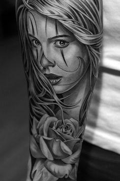 sugar skull girl tattoo - Google zoeken