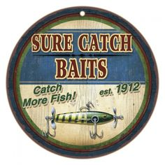 Sure Catch Baits Wooden Plaque - American Expedition