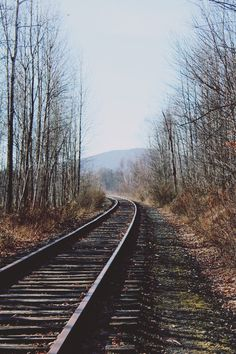 Railroad - reminds me of Newport. Silence Is Better, Family Road Trips, On The Road Again, Train Journey, Winding Road, Train Tracks, Ways To Travel, Get Outside, Train Station
