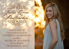 Simple and Classic Photo Graduation Card by OhHappinessCards