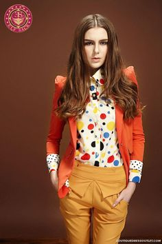 Retro Polka Dot Lined Slim Shrug Small Suit