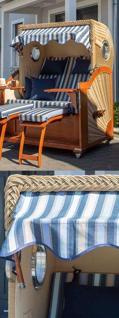 Strandkorb Blau Weiß Gestreift | DeVries Albatros Strandkorb   Mehr  Strandkörbe Gibtu0027s Bei Garten