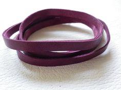 Wickelarmband lila- alles-in-Leder
