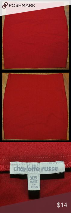 Red Sexy Bodycon Bandage Mini Skirt Like-New Condition / no flaws Skirts Mini