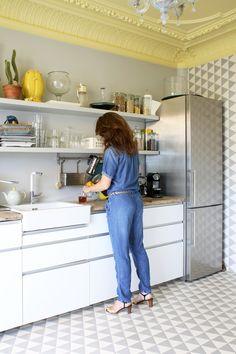 peinture vert d 39 eau une couleur d co pour salon et cuisine satin jad et comment. Black Bedroom Furniture Sets. Home Design Ideas