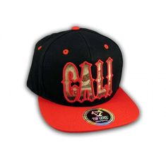 This is a High Quality Red Cali Script on Black Republic Snapback Hat. It has Embroidered Cali Script in on the Front with Cali Embroidered Stitching on the Back! It's an adjustable Baseball Style Snapback Cap with a Flat Bill Visor. Hip Hop Hat, Snapback Cap, Cali, Script, Stitching, Baseball Hats, Flats, 3d, Style