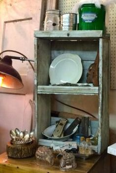 Old Display Shelf With Original Chippy Paint  $75  Dallas Vintage Market Booth #300   Lula B's 1010 N. Riverfront Blvd. Dallas, TX 75207   Read more: http://dallas.ebayclassifieds.com/home-decor/dallas/old-display-shelf-with-original-chippy-paint/?ad=38105080#ixzz3V5BCtFbf