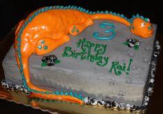 A Dinosaur Birthday cake