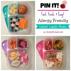 Allergy Friendly Fast Fresh & Easy School Lunch Box Ideas! #GlutenFree #PeanutFree #TreeNutFree & MORE