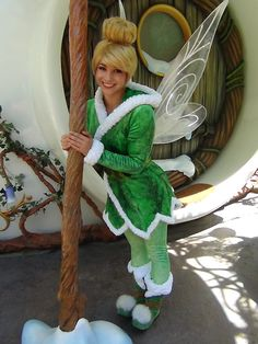 Tinker Bell's outfit in TinkerBell and the secret of the wings when she goes to winter land to find out why her wings were all sparkly!!!