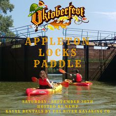 Guten Tag & Good Day! The annual Appleton Locks Paddle is happening this weekend! This event is organized by NEWP and we are happy to provide your kayak rentals! Spend your morning paddling through the locks in a large group and then head downtown to Oktoberfest for food, drinks, and music! Click here to book online: https://fareharbor.com/…/fox…/items/60902/calendar/2017/09/… Click here for more information about this event: http://wisconsinpaddlers.org/publi…/appleton-locks-paddle-2/