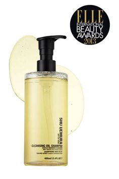 "ULTIMATE SHAMPOO  ELLE editors adore the ""light yet moisturizing"" Shu Uemura Cleansing Oil Shampoo, which deep cleans without stripping to leave hair ""supershiny and full of volume."""