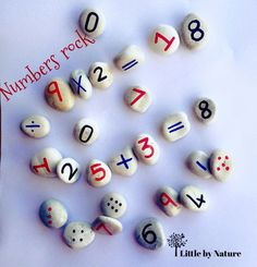 Numbers Rock Counting Stones by LittlebyNature on Etsy