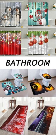 How to decorate your Bathroom?shower curtains,bath rugs and Toilet Mats to buy now.Free Shipping Worldwide!