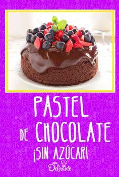 pastel de chocolate sin azucar