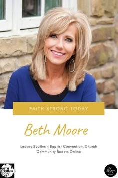 """On March 9, evangelical Christians were rocked to learn Beth Moore is no longer a Southern Baptist. The popular author and speaker made the announcement in an interview with Religion News Service last Friday, citing she doesn't """"identify with some of the things in our heritage that haven't remained in the past."""" Online Church, Writing Portfolio, Beth Moore, Writing Styles, Christians, Announcement, Religion, Interview, Southern"""