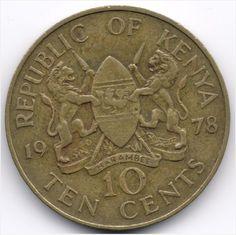Kenya : 10 Cents 1978 Veiling in de Kenia,Afrika,Munten,Munten & Banknota's Categorie op eBid België