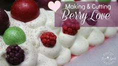 Making & Cutting Berry Love Cold Process Soap | Love Is Sweet Shop