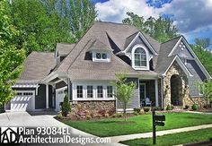 Plan 93084EL: Eye-Catching Shingle Style House Plan