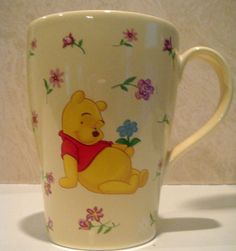 WInnie the Pooh Yellow Floral Mug
