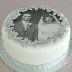 silver/diamond anniversary cake decorating kit