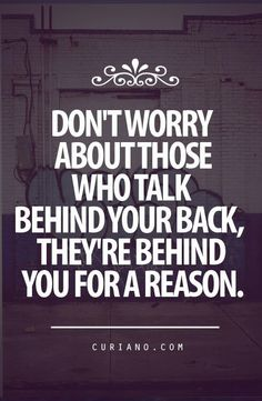 Don't worry about those who talk