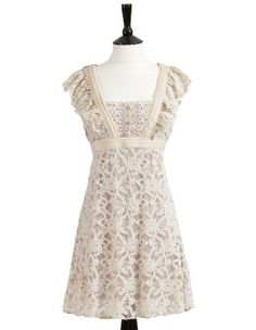 Cream lace dress!