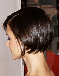 side/back view of short bob