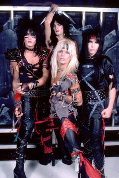 Many heavy metal bands like Motley Crue (clockwise from l. Nikki Sixx, Tommy Lee, Mick Mars and Vince Neil) never left the road since the '80s.