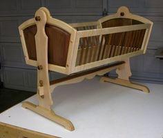Maple & Walnut Heirloom Baby Cradle so beaiuful 🍁