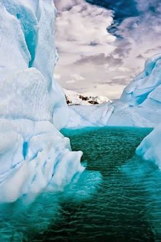 Iceberg Lagoon Antarctica...not gonna lie...this freaks me out a little bit!