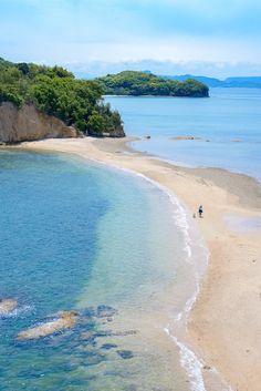 出会えるのは1日2回小豆島エンジェルロード天使の散歩道