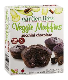 GARDEN LITES Zucchini Chocolate Veggie Muffin, 8 Ounce (Pack of 8) > You can find more details at : Fresh Groceries
