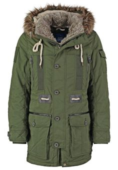 TOM TAILOR Parka authentic green Meer info via http://kledingwinkel.nl/product/tom-tailor-parka-authentic-green/