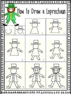 how to draw a leprechaun video