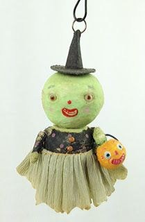 Spun Cotton Ornament Co. Halloween Clay, Halloween Images, Vintage Halloween, Halloween Crafts, Halloween Decorations, Vintage Decorations, Halloween Ideas, Happy Halloween, Paper Mache Clay