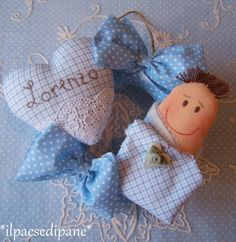 Birth garland light blue