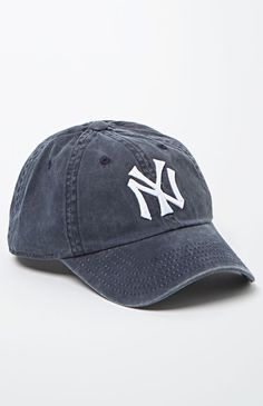 American Needle Washed Out NY Yankees Baseball Cap - Womens Hat - Blue - One from PacSun. Yankees Hat, Cute Hats, Hat Hairstyles, Dad Hats, Hats For Women, My Style, Baseball Caps, Pro Baseball, Annabeth Chase